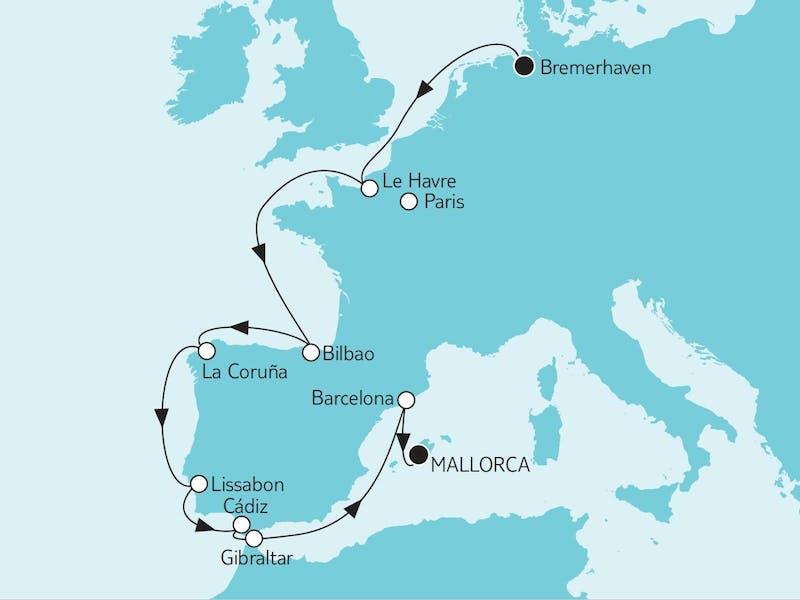 Bremerhaven bis Mallorca II