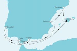 Mittelmeer mit Málaga