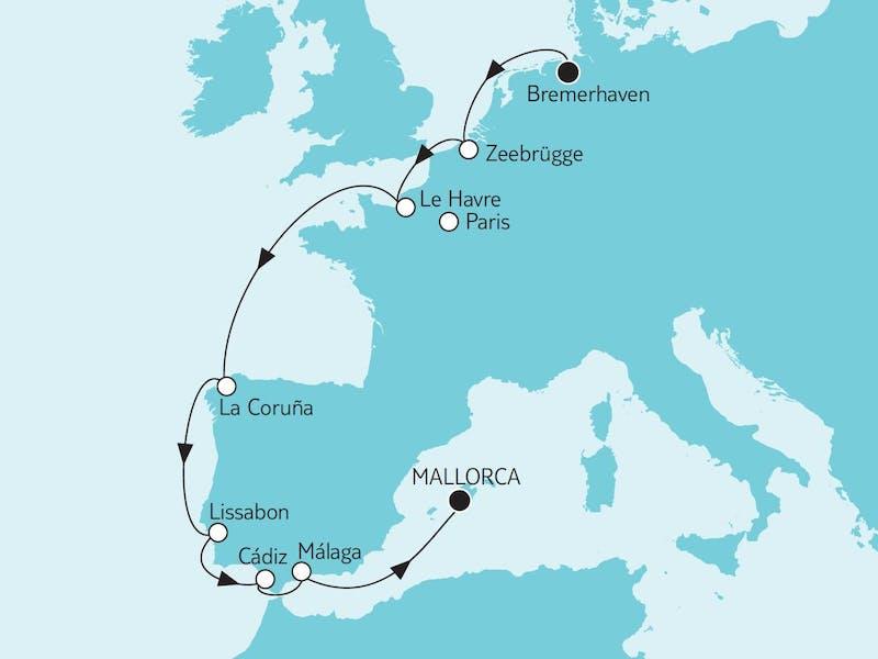 Bremerhaven bis Mallorca I