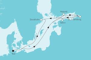 Ostsee Baltikum mit Helsinki