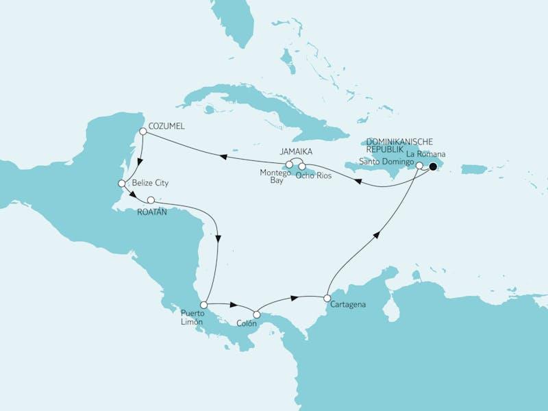 Karibik & Mittelamerika I ab/bis Dom. Republik