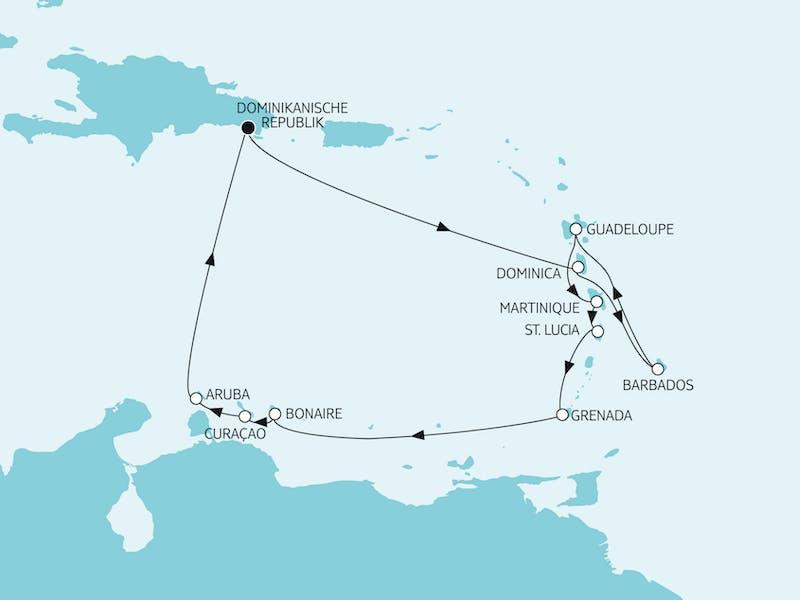 Karibik I ab/bis Dom. Republik