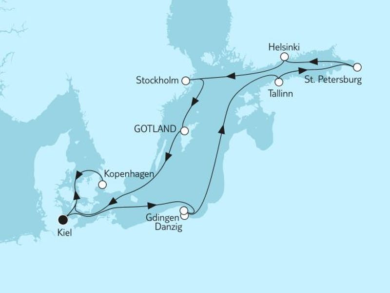 Ostsee mit St. Petersburg & Kopenhagen I