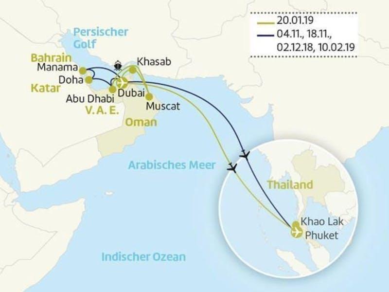 Golf von Persien & Thailand