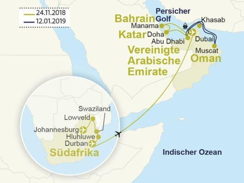 Südafrika & Emirate