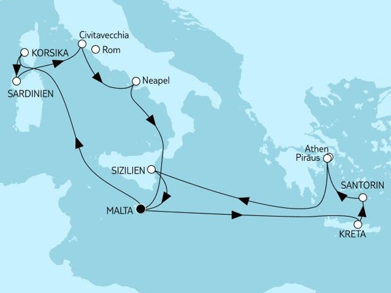 Mittelmeer mit Italien & Griechenland I