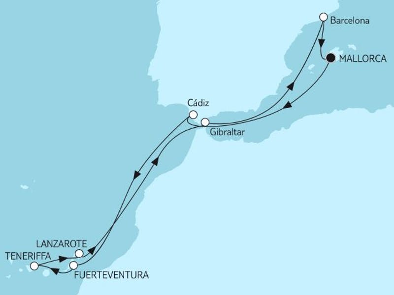 Mittelmeer mit Kanaren III