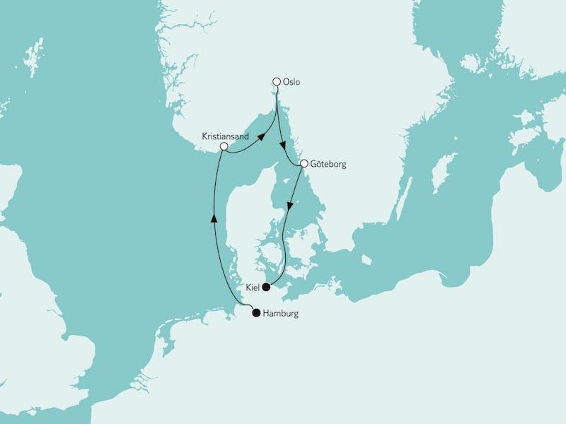 Kurzreise mit Oslo & Göteborg