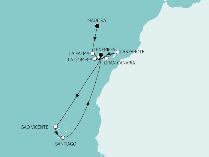 Kanaren mit La Gomera & Kapverden