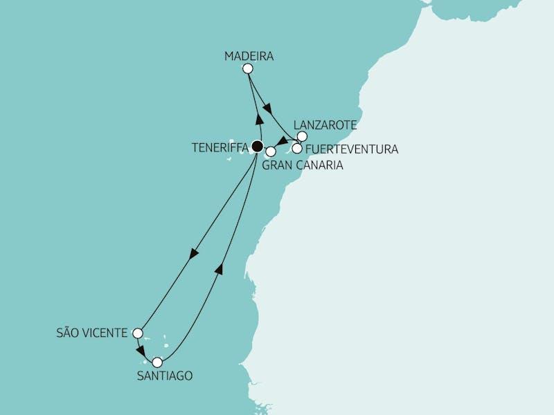 Kanaren mit Madeira & Kapverden