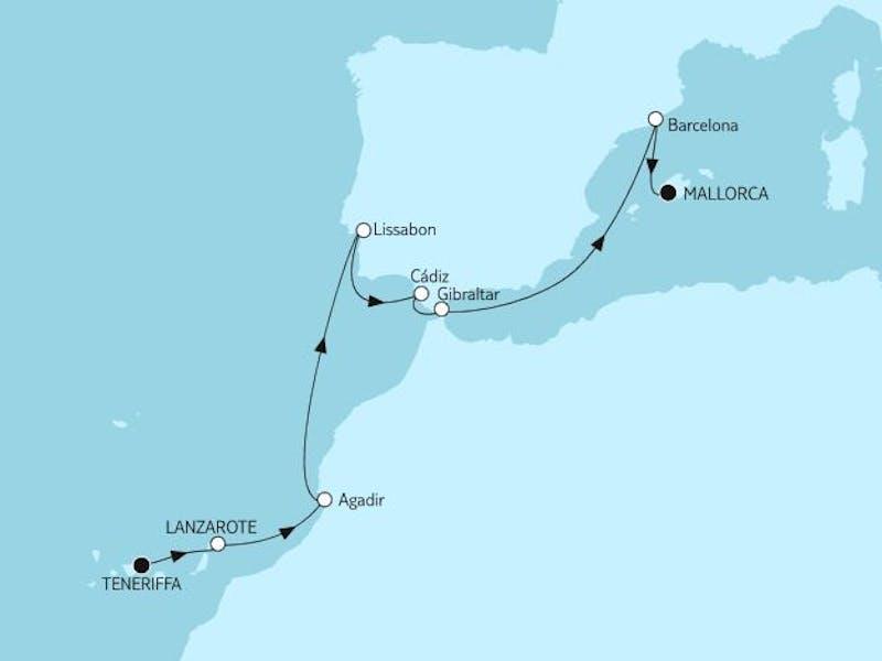 Teneriffa bis Mallorca