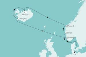 Island mit Norwegen