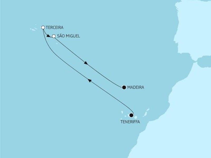 Azoren mit Madeira