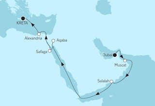 Dubai bis Östliches Mittelmeer II