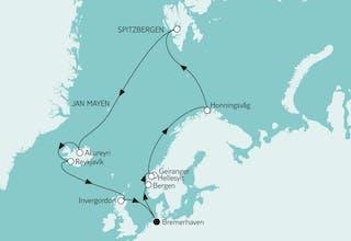 Norwegen mit Spitzbergen & Island