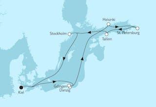 Ostsee mit St. Petersburg & Danzig