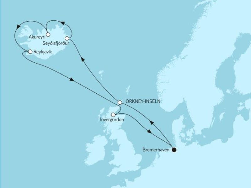 Island mit Schottland I