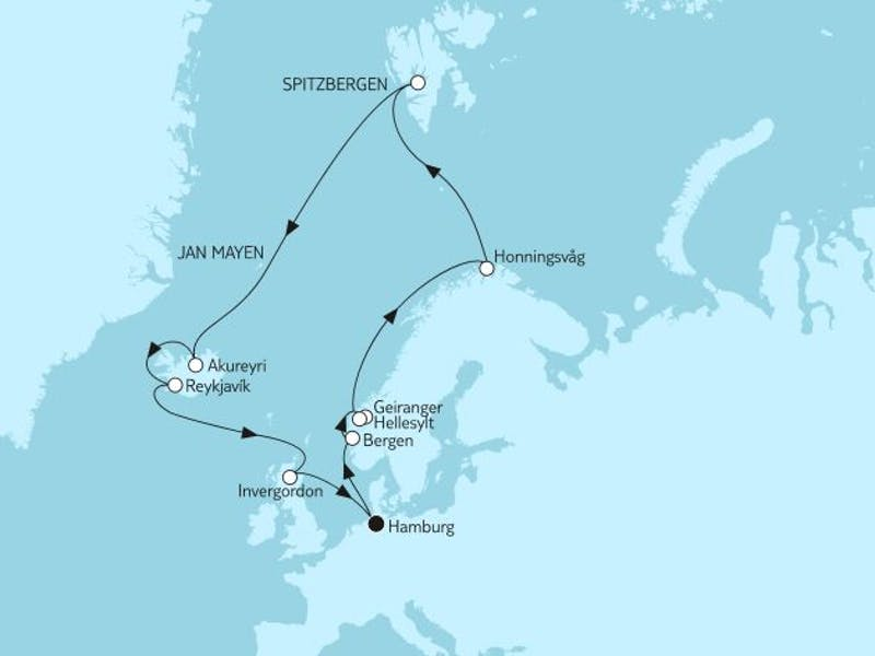 Norwegen mit Spitzbergen & Island I