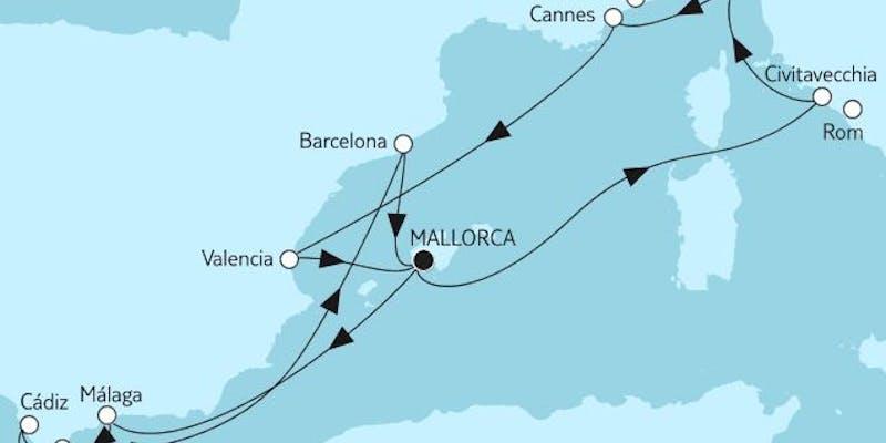 Mittelmeer mit Valencia & Andalusien