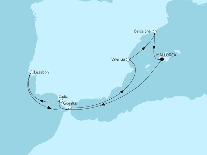 Mittelmeer mit Andalusien I