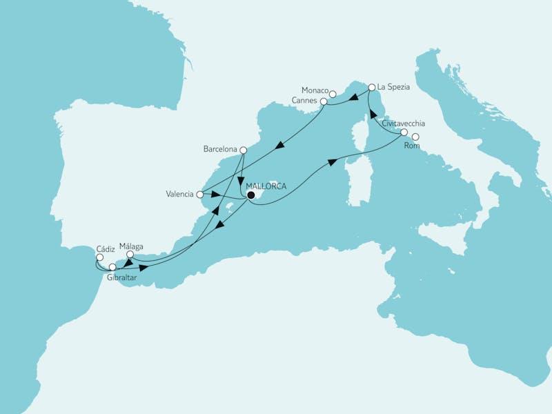 Mittelmeer mit Andalusien & Valencia
