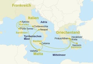Östliches Mittelmeer mit Hotel