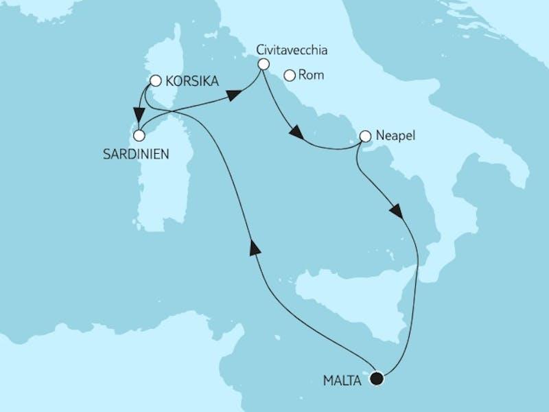 Mittelmeer mit Italien I