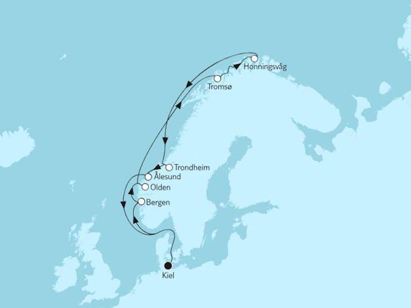 Norwegen mit Nordkap V