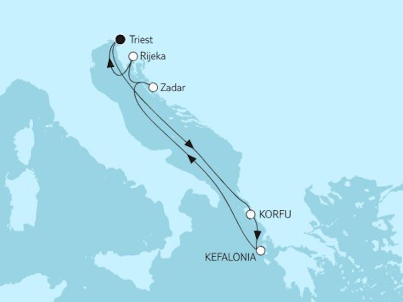 Adria mit Korfu