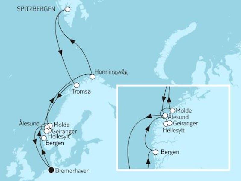 Norwegen mit Spitzbergen