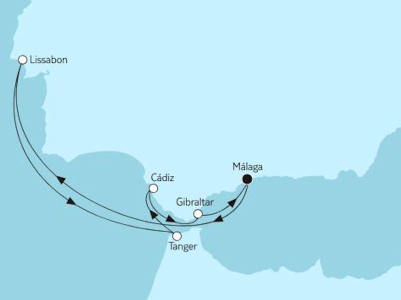 Mittelmeer mit Lissabon