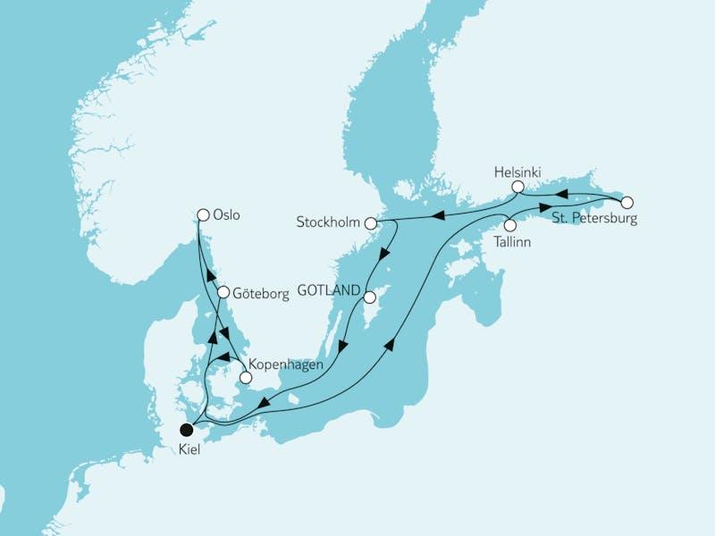 Ostsee mit St Petersburg & Oslo