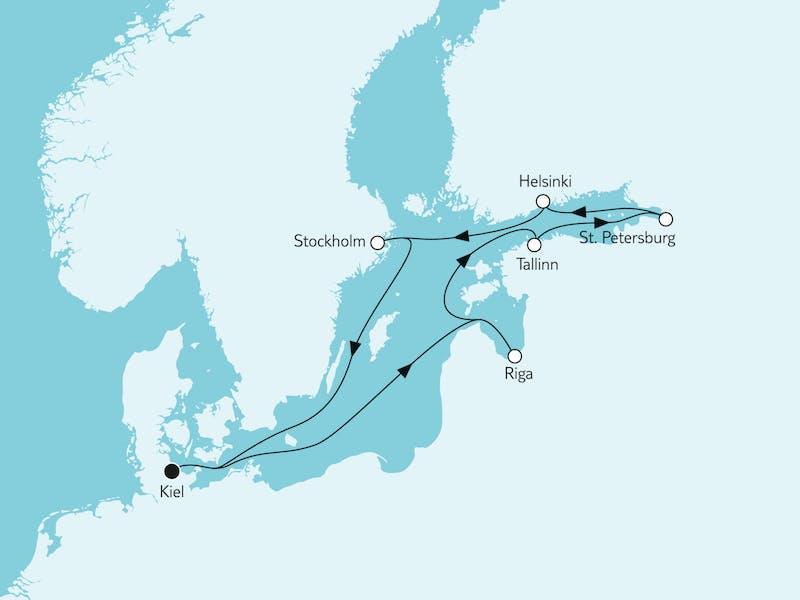 Ostsee mit St. Petersburg & Riga