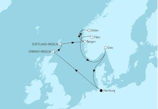 Norwegen mit Orkney Inseln