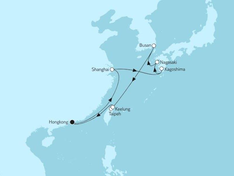 Hongkong mit Japan