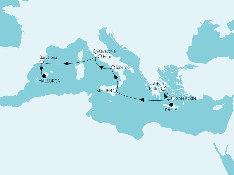 Östliches Mittelmeer bis Mallorca II