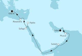 Dubai bis Kreta