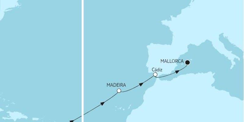 Barbados bis Mallorca