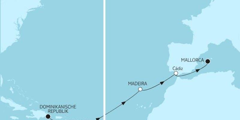 Dominikanische Republik bis Mallorca