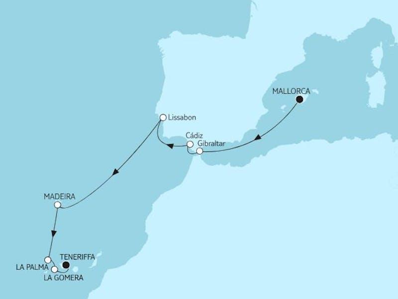 Mallorca bis Teneriffa - Silvesterreise