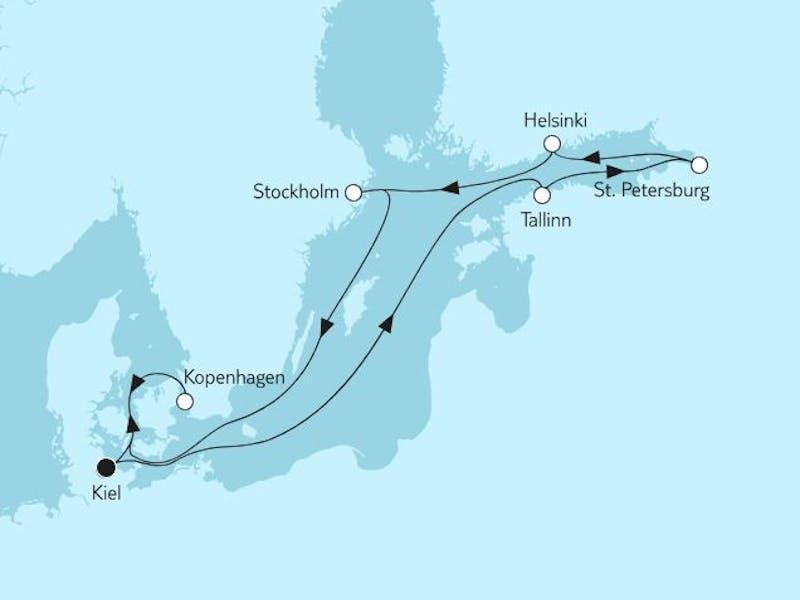 Ostsee mit St. Petersburg V