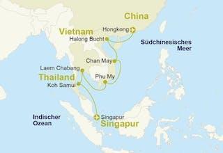 Singapur bis Hongkong Inkl. Hotel