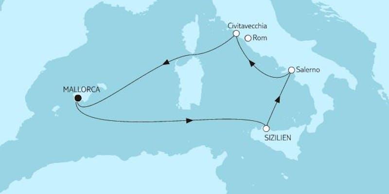 Mittelmeer mit Palermo