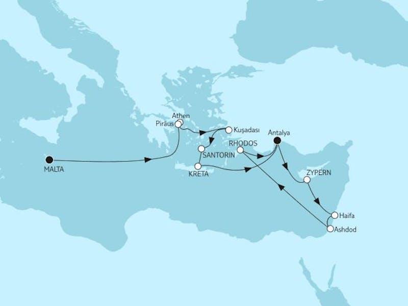 Griechenland mit Kreta & Zypern