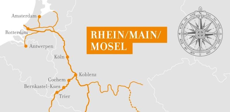Rhein Kurs Nord und Mosel