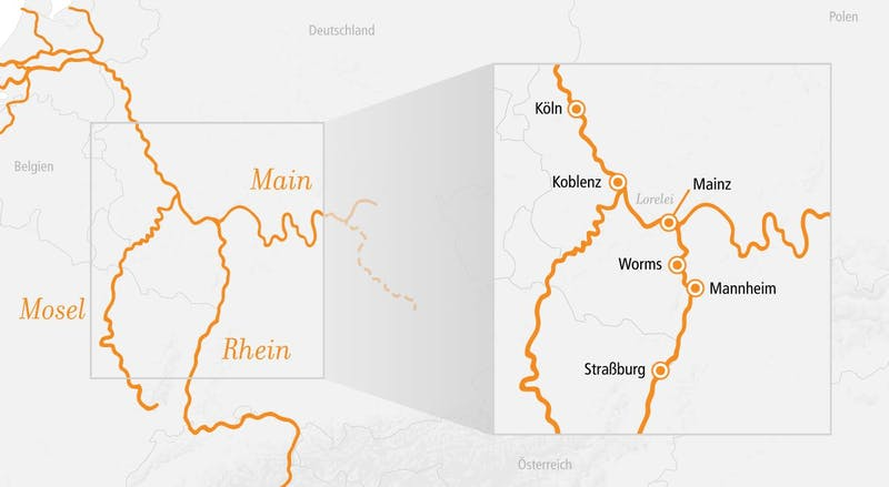 Rhein Kurz-Kreuzfahrt Main & Loreley