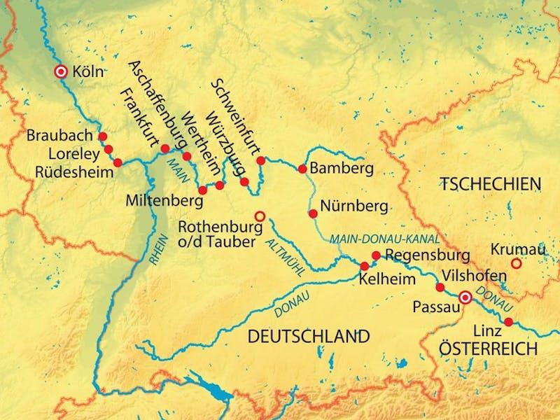Höhepunkte am Main-donau-kanal (aur449)