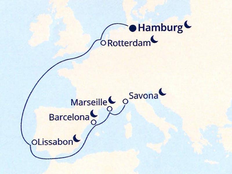 Deutschland, Niederlande, Portugal, Spanien, Frankreich, Italien