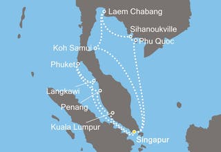 Singapur, Malaysia, Thailand