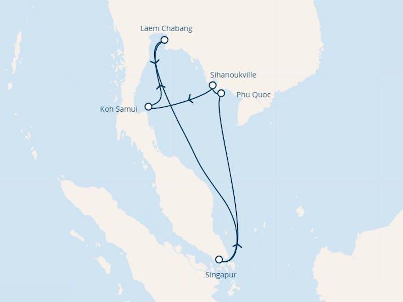 Singapur, Thailand